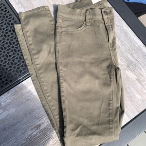 Womans PacSun  green jeggings - Size 25 or size 3